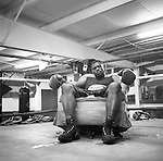 "Freeman ""The Natural"" Barr, a father,  electrician and former middleweight world champion, sits for a portrait in SJ Boxing Gym in downtown Fort Myers in January of 2010."