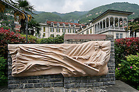 Monument of Bellini in Moltrasio