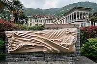 Monument of Bellini in Moltrasio