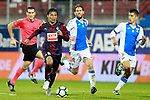 SD Eibar's Takashi Inui (l) and CD Leganes' Darko Brasanac (c) and Unai Bustinza during La Liga match. September 15,2017. (ALTERPHOTOS/Acero)