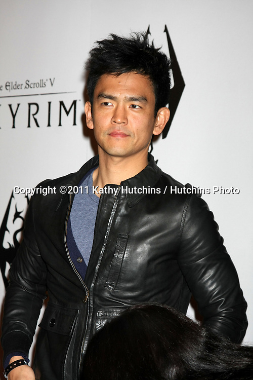 LOS ANGELES - NOV 8:  John Cho arrives at the SKYRIM Launch Event at Belasco Theater on November 8, 2011 in Los Angeles, CA