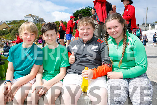 enjoying the Fenit Regatta on Sunday were Ross Rohan, Alex Scannell, John O'Connor and Aoife O'Connor
