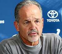 Chuck Pagano at the Indianapolis Colts Press Conference at The Grove Hotel, Chandlers Cross, Watford, Herts. Indianapolis are here to play in the latest NFL International Series game at Wembley Stadium vs Jacksonville Jaguars on Sunday October 2nd 2016 - Pictured on September 30th 2016<br /> CAP/JIL<br /> &copy; Jill Mayhew/Capital Pictures /MediaPunch ***NORTH AND SOUTH AMERICAS ONLY***