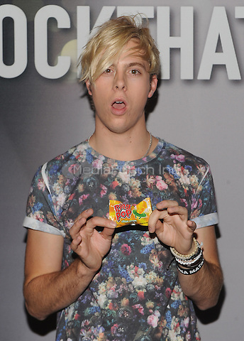 New York,NY-June 9: Riker Lynch attend the Pop/Rock Sensation R5 and Ring Pop Premiere #RockThatRock Music Video at Gramercy Theatre in New York City on June 9, 2014. Credit: John Palmer/MediaPunch