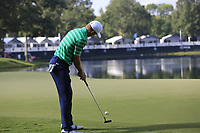 Jordan Spieth (USA) putts on the 14th green during Thursday's Round 1 of the 2017 PGA Championship held at Quail Hollow Golf Club, Charlotte, North Carolina, USA. 10th August 2017.<br /> Picture: Eoin Clarke | Golffile<br /> <br /> <br /> All photos usage must carry mandatory copyright credit (&copy; Golffile | Eoin Clarke)