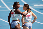 31.07.2010, Olympic Stadium, Barcelona, ESP, European Athletics Championships Barcelona 2010, im Bild Merlene Ottey and Tina Murn of Slovenia after competing during  the 4x100m Womens Relay Heats, EXPA Pictures © 2010, PhotoCredit: EXPA/ Sportida/ Vid Ponikvar +++++ ATTENTION - OUT OF SLOVENIA +++++