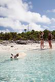 EXUMA, Bahamas. Swimming pigs at Big Major Cay.