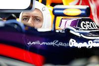 SAO PAULO, SP, 23.11.2013 - F1 - TREINOS LIVRES -  O piloto alemao Sebastian Vettel da equipe Red Bull, durante o treino livre deste sábado (23) para o Grande Prêmio do Brasil de Fórmula 1, no autódromo de Interlagos, na zona sul de São Paulo. O treino de classificação para a corrida, que ocorre amanhã, começa hoje a partir das 14h. (Foto: Lukas Gorys / Brazil Photo Press).