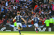 June 10th 2017, Hampden park, Glasgow, Scotland; World Cup 2018 Qualifying football, Scotland versus England; Leigh Griffiths celebrates making it 2-1 in the 90th minute
