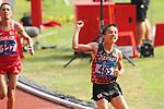 (L-R) <br /> Elhassan Elabbassi (BRN), <br />  Hiroto Inoue (JPN), <br /> AUGUST 25, 2018 - Athletics - Marathon : <br /> Men's Marathon Final <br /> at Gelora Bung Karno Main Stadium <br /> during the 2018 Jakarta Palembang Asian Games <br /> in Jakarta, Indonesia. <br /> (Photo by Naoki Nishimura/AFLO SPORT)