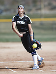Western Nevada's Kristina George pitches against Colorado Northwestern at Edmonds Sports Complex Carson City, Nev., on Friday, March 18, 2016.<br />