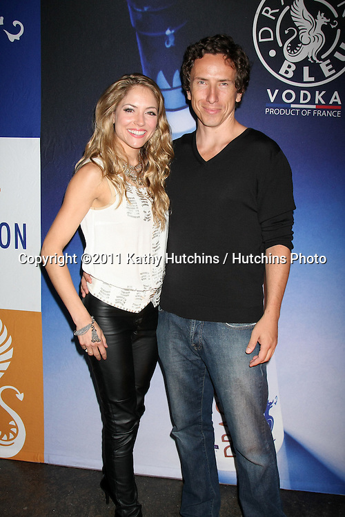 """LOS ANGELES - SEPT 22:  Brooke Nevin, Michael Traynor arriving at the after-party for  """"Archie's Final Project""""  presented by Big Air Studios, Rocket Releasing, and Interscope Records at Track 16, Bergamot Station on September 22, 2011 in Santa Monica, CA"""