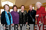 Rose Kelliher, Mary Scanlon, Eileen Kennedy, Bridget Crean and Patsy Quirke, from Castlegregory, enjoying the Senior Citizens Annual Social at the Skellig  Hotel, Dingle, on Sunday afternoon.