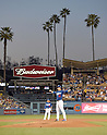 Kenta Maeda (Dodgers),<br /> APRIL 1, 2016 - MLB :<br /> Pitcher Kenta Maeda of the Los Angeles Dodgers stands on the mound during a spring training baseball game against the Los Angeles Angels at Dodger Stadium in Los Angeles, California, United States. (Photo by AFLO)
