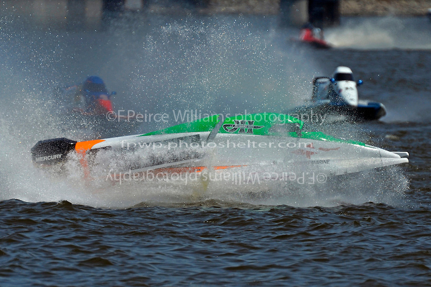 Frame 11: Rueben Stafford (#5) hooks and spins out during heat race 3 bringing out the red flag.   (Formula 1/F1/Champ class)