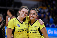 Pulse' Tiana Metuarau and Pulse' Elle Temu, ANZ Premiership - Pulse v Stars at Te Rauparaha Arena, Porirua, New Zealand on Wednesday 3 April 2019. <br /> Photo by Masanori Udagawa. <br /> www.photowellington.photoshelter.com
