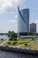 An der Daugava (Düna) in Riga, Lettland, Europa
