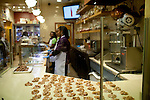 Pralines line a counter at Savannah's Candy Kitchen in Concourse B at Hartsfield–Jackson Atlanta International Airport, in Atlanta, Georgia on August 28, 2013.