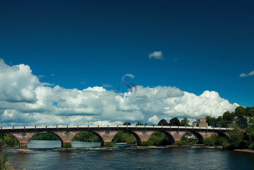The River Tay and Smeaton's Bridge, Perth, Perthshire
