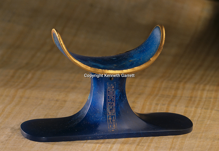 Blue glass headrest, Tutankhamun and the Golden Age of the Pharaohs, Page 237
