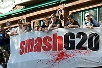 "GERMANY, Hamburg, protest rally ""WELCOME TO HELL"" against G-20 summit in july 2017 / DEUTSCHLAND, Hamburg, Fischmarkt, Protest Demo WELCOME TO HELL gegen G20 Gipfel in Hamburg"