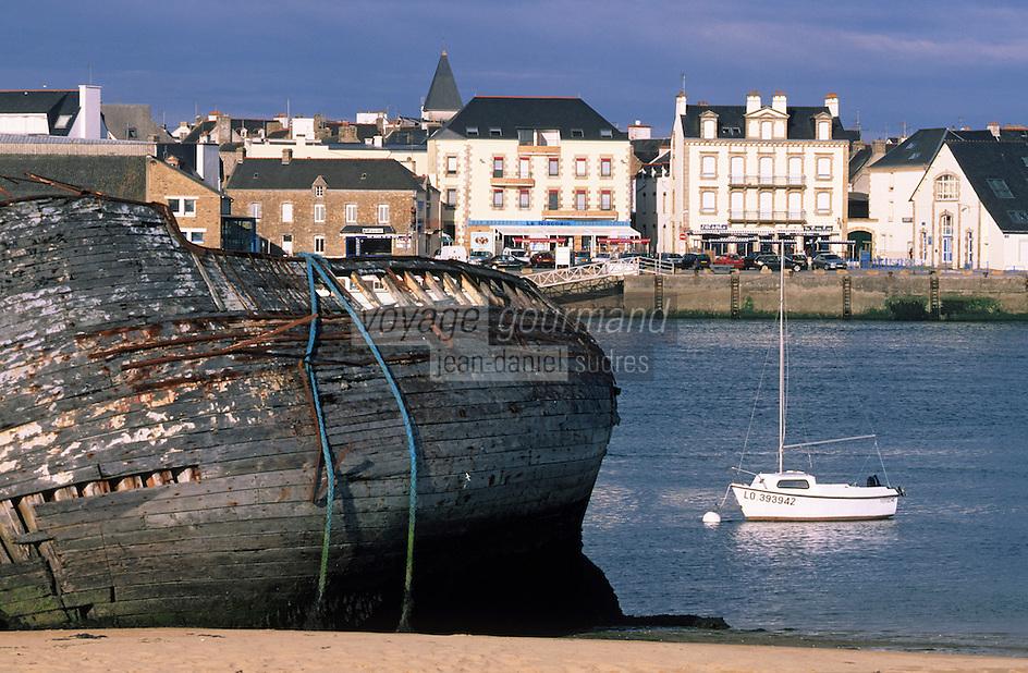 Europe/France/Bretagne/56/Morbihan/Etel: Cimetière de bateaux sur la rivière d'Etel