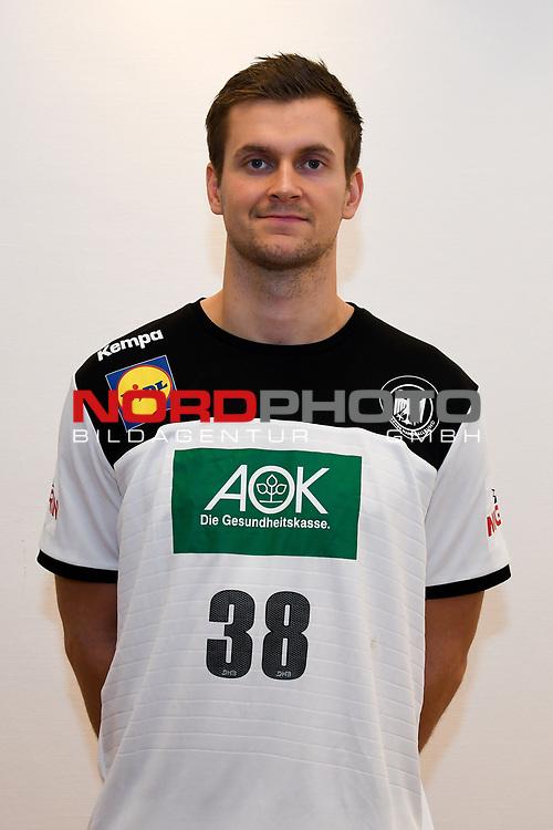 03.01.2019,  GER; Handball, IHF Handball-WM 2019 in Deutschland und Daenemark, Nationalmannschaft Deutschland. Fototermin, im Bild Fabian Boehm (Böhm GER #38) Foto © nordphoto / Witke