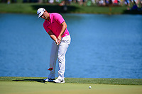 Jon Rahm (ESP) watches his putt on 2 during round 2 of the Shell Houston Open, Golf Club of Houston, Houston, Texas, USA. 3/31/2017.<br /> Picture: Golffile | Ken Murray<br /> <br /> <br /> All photo usage must carry mandatory copyright credit (&copy; Golffile | Ken Murray)