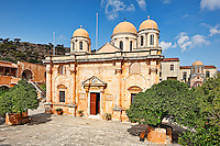 The Monastery of Agia Triada Tsagarolon in Crete, Greece