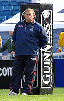 2005_06 National Division One, NEC Harlequins vs Newbury, Quins Director of Rugby, Dean Richards, relax's against the goal post, as Quins go through the pre game warm up.Twickenham Stoop: 17.09.2005   © Peter Spurrier/Intersport Images - email images@intersport-images..