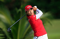Jin Young Ko (KOR) in action on the 2nd during Round 3 of the HSBC Womens Champions 2018 at Sentosa Golf Club on the Saturday 3rd March 2018.<br /> Picture:  Thos Caffrey / www.golffile.ie<br /> <br /> All photo usage must carry mandatory copyright credit (&copy; Golffile | Thos Caffrey)