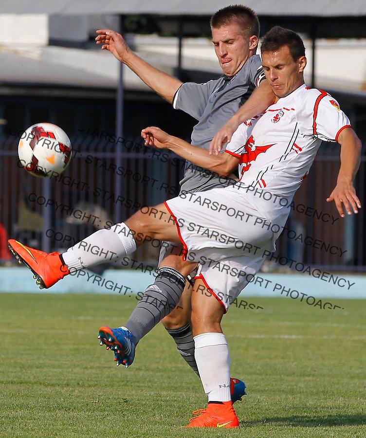 Fudbal Jelen Super League season 2014-2015<br /> Vozdovac v Partizan<br /> Vojislav Stankovic (L)<br /> Beograd, 08.10.2014.<br /> foto: Srdjan Stevanovic/Starsportphoto&copy;