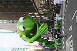 Kermit the Frog at the Macy's Thanksgiving Day Parade on November 27, 2008 in New York City, NY. (Photo by Sue Coflin/Max Photos)