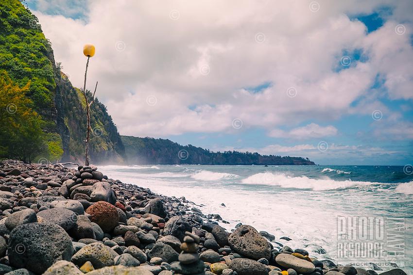 Awini Beach, Pololu, Big Island of Hawai'i.