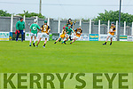 Action from Ballyduff against Abbeydorney in the U16 Co Hurling Championship final in Lerrig on Sunday
