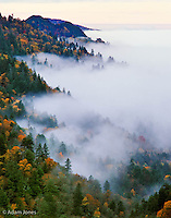 Morning mist, from Morton Overlook, Great Smoky Mountains National Park, Tennessee