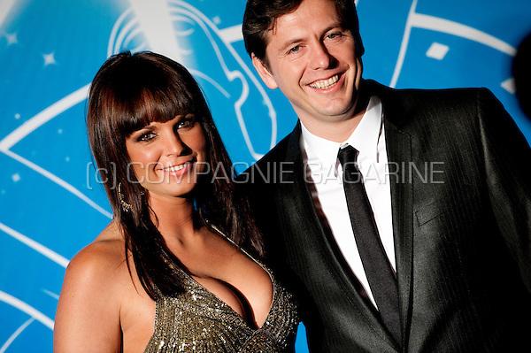 Tess Goossens and her boyfriend Guy Goedgezelschap at the Nacht van de Vlaamse Televisiesterren in Hasselt (Belgium, 06/03/2010)