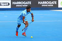 Surender Kumar of india in action during the Hockey World League Quarter-Final match between India and Malaysia at the Olympic Park, London, England on 22 June 2017. Photo by Steve McCarthy.