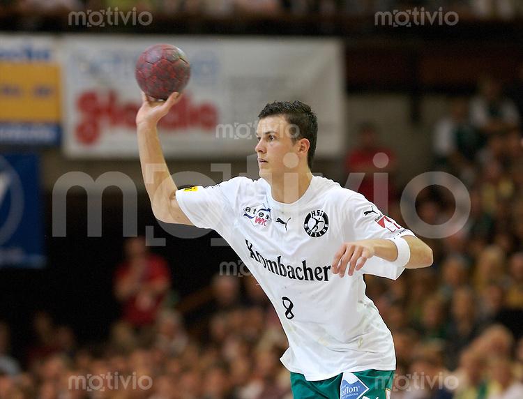 Handball 1.Bundesliga Herren 2006/2007, FrischAuf Goeppingen - HSG Wetzlar, Timo Salzer (FAG) am Ball, wirft