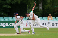 Josh Tongue in bowling action for Worcestershire during Worcestershire CCC vs Essex CCC, Specsavers County Championship Division 1 Cricket at Blackfinch New Road on 12th May 2018