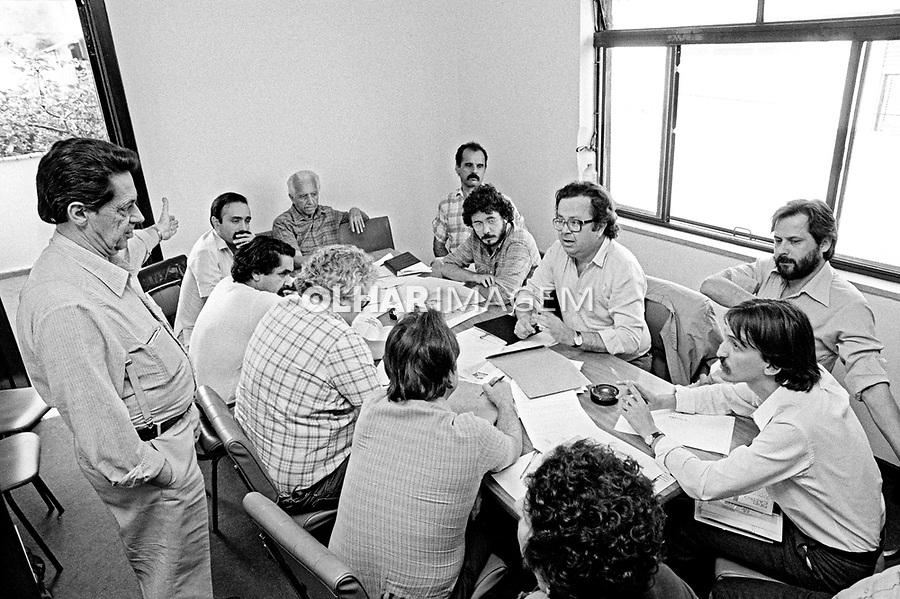 Reuniao da Executiva Nacional do PT 1985. Foto de Juca Martins.