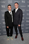 Designers Marc Jacob (left) and Raf Simons arrives at the WSJ. Magazine 2017 Innovator Awards at The Museum of Modern Art in New York City, on November 1, 2017.