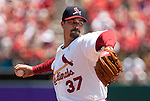 June 20, 2010       St. Louis Cardinals starting pitcher Jeff Suppan (37) throws in the first inning.  The St. Louis Cardinals lost 3-2 to the Oakland Athletics in the final game of a three-game homestand at Busch Stadium in downtown St. Louis, MO on Sunday June 20, 2010.