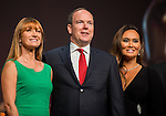 Jane Seymour, HSH Prince Albert II of Monaco, Tia Carrere  attend the opening ceremony of the 54th Monte Carlo TV Festival at the Grimaldi Forum on June 7, 2014 in Monte-Carlo, Monaco.<br /> Jane Seymour, HSH Prince Albert II of Monaco, Tia Carrere