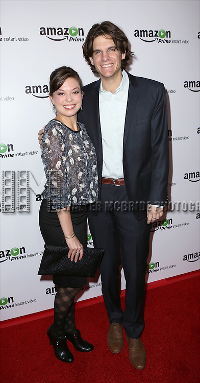Margo Seibert and Alex Timbers attending the Amazon Red Carpet Premiere for 'Mozart in the Jungle' at Alice Tully Hall on December 2, 2014 in New York City.