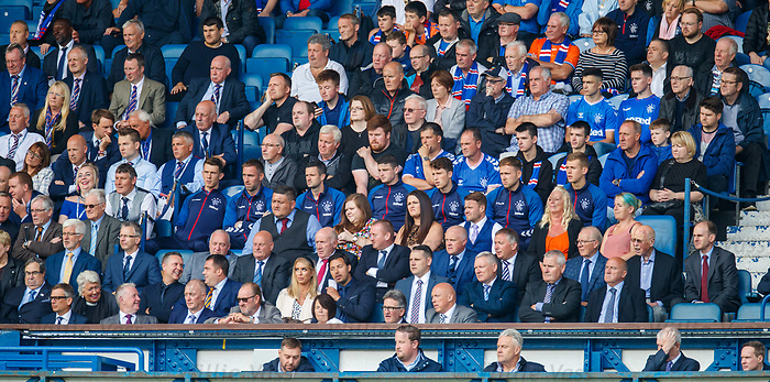 28.07.2019 Rangers v Derby County: Rangers players in stand