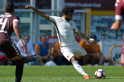 25.09.2016. Stadio Olimpico Grande Torino, Turin, Italy. Serie A Football. Torino versus Roma. Mohamed Salah has a shot at goal