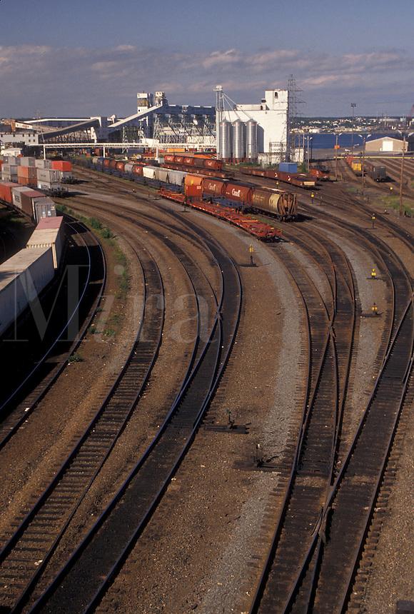 train, railroad, Halifax, Nova Scotia, NS, Canada, Train terminal in Halifax in Nova Scotia.