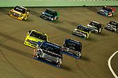 #18: Noah Gragson, Kyle Busch Motorsports, Toyota Tundra Safelite AutoGlass, #88: Matt Crafton, ThorSport Racing, Ford F-150 Ideal Door/Menards and #16: Brett Moffitt, Hattori Racing Enterprises, Toyota Tundra AISIN Group