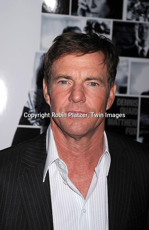 "Dennis Quaid .arriving at The World Ptemiere of ""Vantage Point"" .on February 20, 2008 at The AMC Lincoln Square Theatre in New York City. The movie stars Dennis Quaid, Matthew Fox, Forest Whitaker, Sigourney Weaver and Zoe Saldana. ..Robin Platzer, Twin Images..212-935-0770"